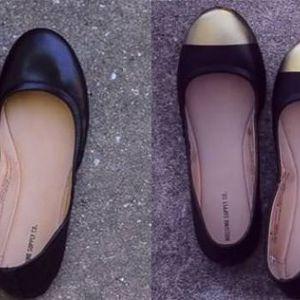 Красиві модні балетки зі старого взуття