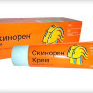 Застосування крему скінорен