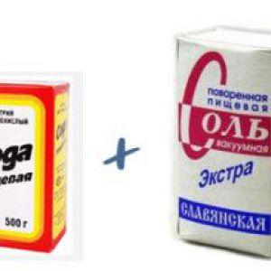 Сода і сіль проти прищів і чорних крапок
