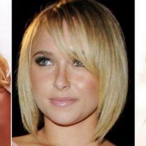 Стрижки для круглоліций дам із середньою довжиною волосся