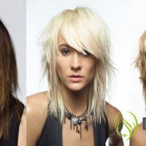 Варіанти рваних стрижок для волосся середньої довжини